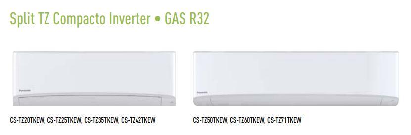 Aire Acondicionado Panasonic TZ compacto gas R32