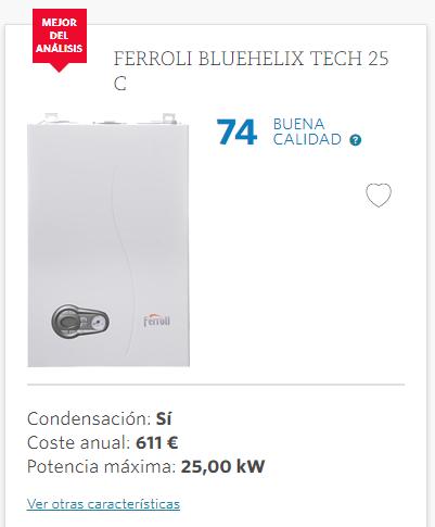 Las mejores calderas de gas de condensaci n seg n la ocu septiembre 2017 2018 - Cual es la mejor caldera de condensacion ...