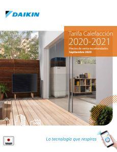 Tarifa Daikin 2021