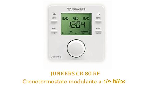 Caldera Junkers Cerapur Excellence Compact ZWB 28-1A con termostato cr80rf