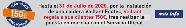 Plan sonrie promocion regalo de 150 eurospor la compra de una caldera vaillant ecotec
