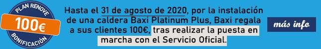 Plan renove Baxi Platinum Compact Eco 100 euros