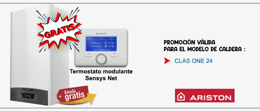 Promocion caldera ariston clas one con sensys net gratis
