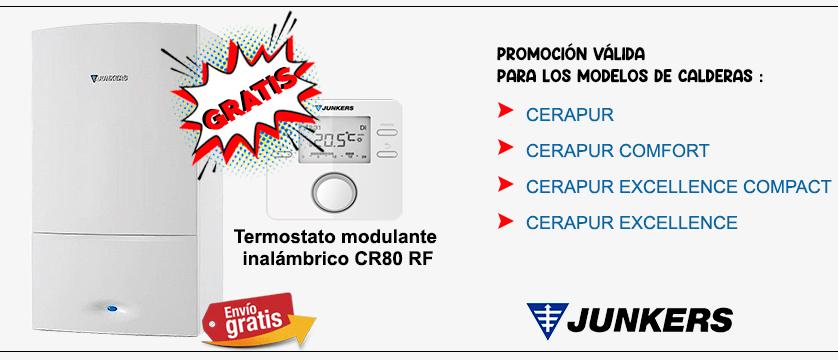 promocion 2021 compra la caldera junkers con termostato cr80rf gratis