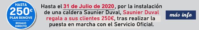 Plan sonrie promocion regalo de 150 euros por la compra de una caldera saunier duval