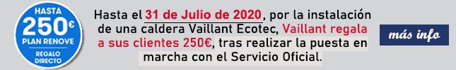 Plan sonrie promocion regalo de 150 euros por la compra de una caldera vaillant ecotec