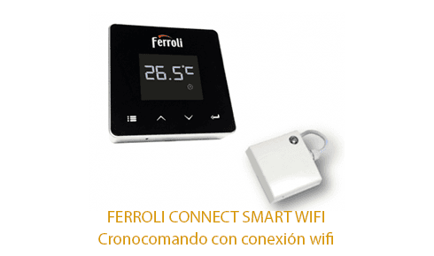 Caldera Ferroli Bluehelix Tech RRT con cronotermostato Ferroli Connect Smart WIFI