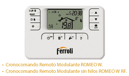 Caldera Ferroli Bluehelix Tech RRT con cronotermostato Romeo W