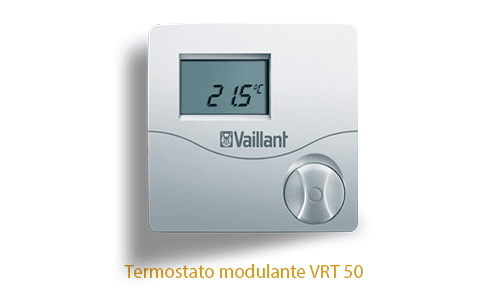 Caldera Vaillant Ecotec Plus con termostato VRT 50