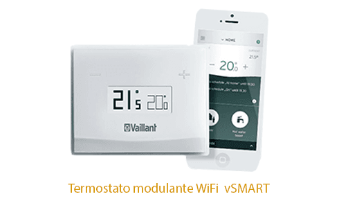 Caldera Vaillant Ecotec Plus con Cronotermostato WIFI vsmart
