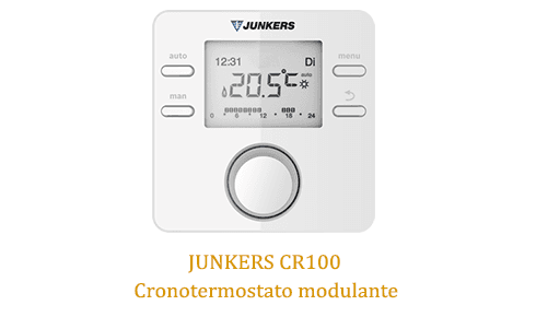 Caldera Junkers Cerapur Excellence Compact ZWB 25/36-1A con termostato junkers cr100