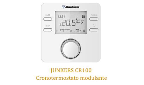 Caldera Junkers cerapur zwbc 24-2c con termostato junkers cr100