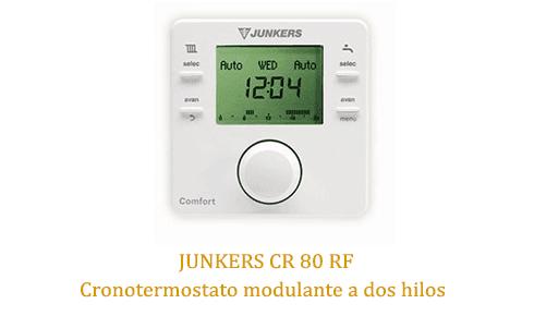 Caldera Junkers cerapur zwbc 24-2c con termostato cr80rf