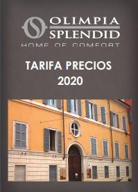 Tarifa olimpia Splendid 2020