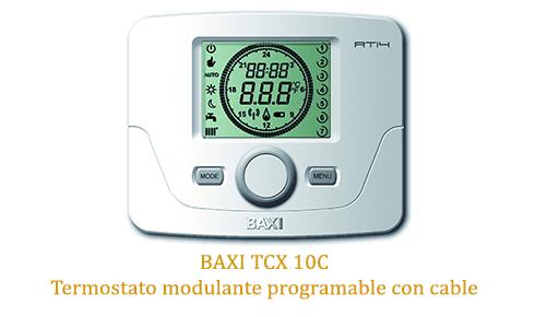 Caldera baxi neodens plus 24 con termostato modulante tcx 10c