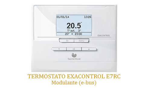 Caldera Saunier Duval con Termostato Exacontrol E7 RC