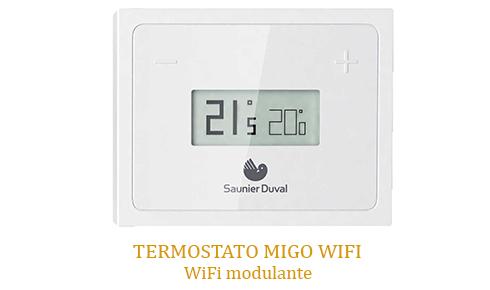 Caldera Saunier Duval con termostato MiGo Wifi