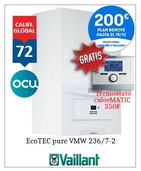 Caldera Vaillant ecotec pure 236 premiado ocu 2019 2020