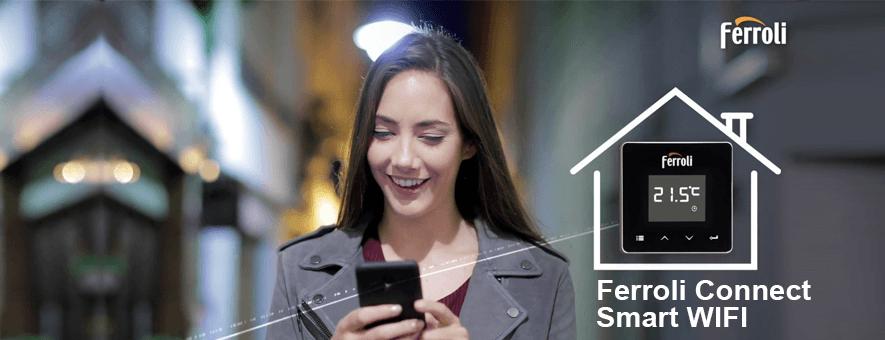 Compra la caldera ferroli bluehelix con connect smart wifi gratis