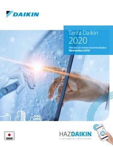 tarifa Daikin 2020