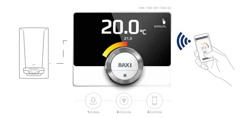 Calderas de condensaci n a gas baxi ecoclimagroup for Baxi termostato ambiente
