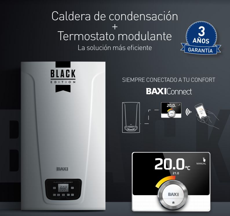 Nueva Baxi Platinum Compact ECO Black Edition