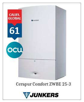 Caldera Junkers Cerapur Comfort zwbe 25-3c premiado ocu 2019 2020