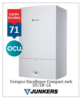 Caldera Junkers Cerapur Excellence Compact premiado ocu 2019 2020