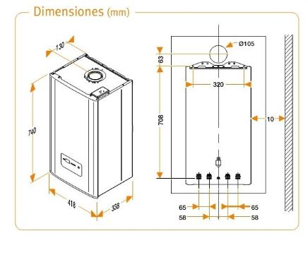 Dimension de caldera Hermann micraplus condens