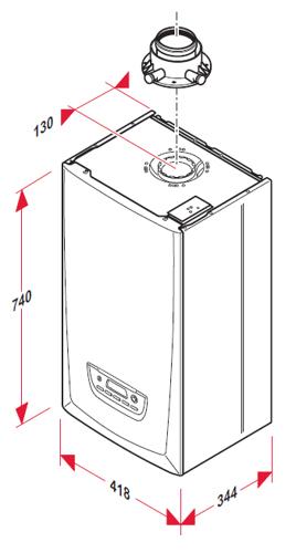 Medidas de caldera de condensacion a gas sauneir duval thema condens