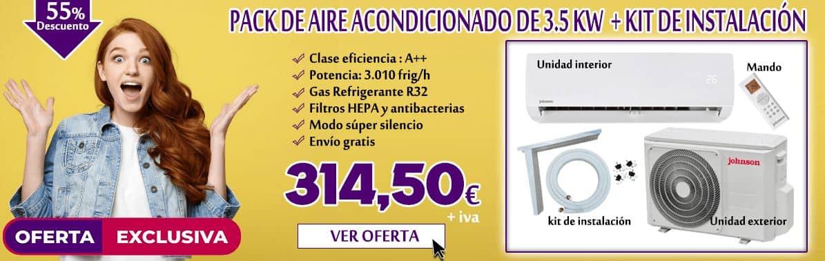 oferta exclusiva de pack de aire acondicionado 2021