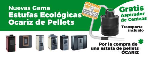 Compra estufa Ocariz con aspirador cenizas gratis