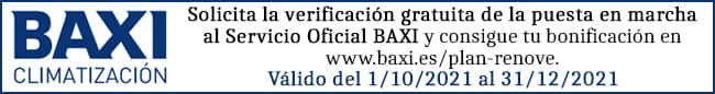 Plan renove Baxi 2021