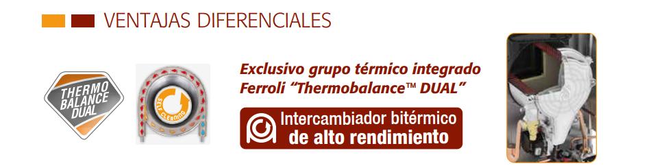 Ventajas de la caldera Ferroli Bluehelix Pro RRT Slim